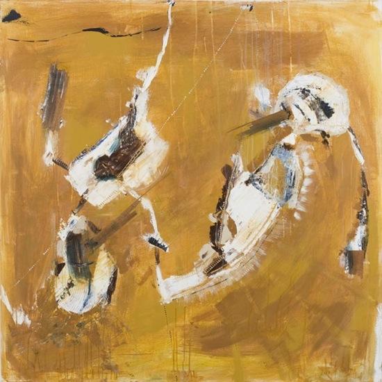 """Requiem - Acrylique et fibre de bois sur toile - 48"""" x 48"""" (1m21 x 1m21)"""